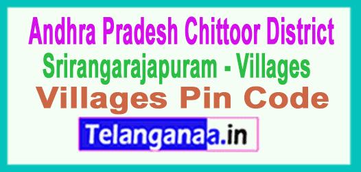 Chittoor District Srirangarajapuram Mandal and Villages Pin Codes in Andhra Pradesh State