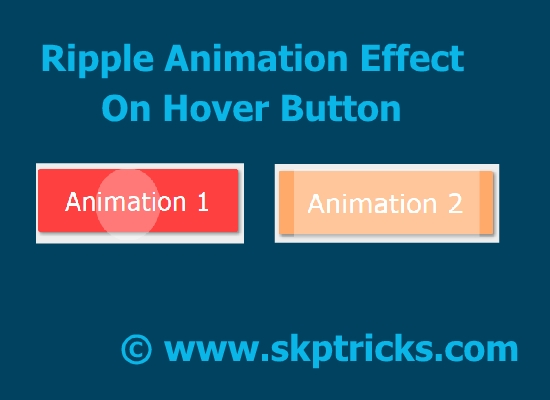 Create Ripple Animation Effect Using Css | SKPTRICKS