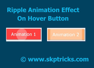 Create Ripple Animation Effect Using Css