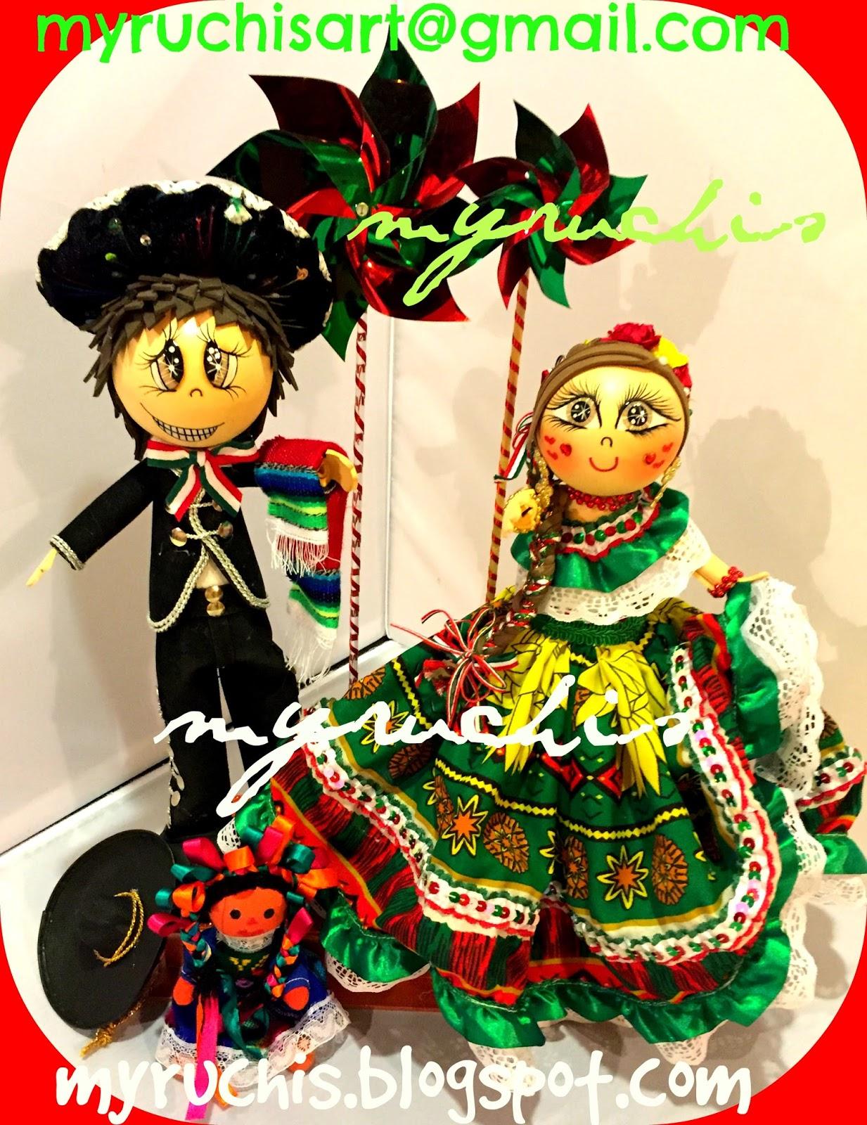 Myruchis centros de mesa fiesta mexicana pareja mexicana - Centros de mesa otonales ...