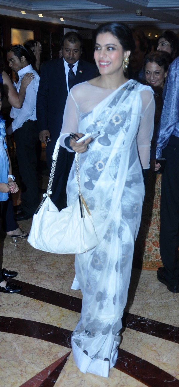 Kajol Hot Photos In White Saree