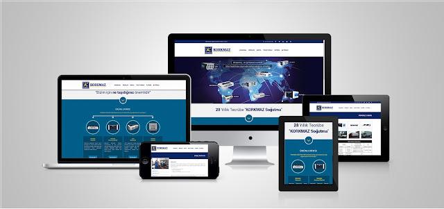 Korkmaz Soğutma Responsive Tasarım Ana Sayfa