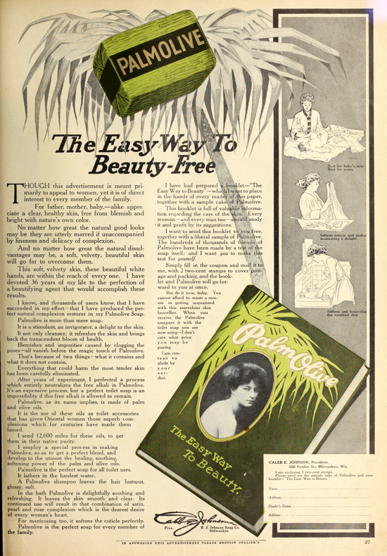 Palmolive Soap, ad March 1910
