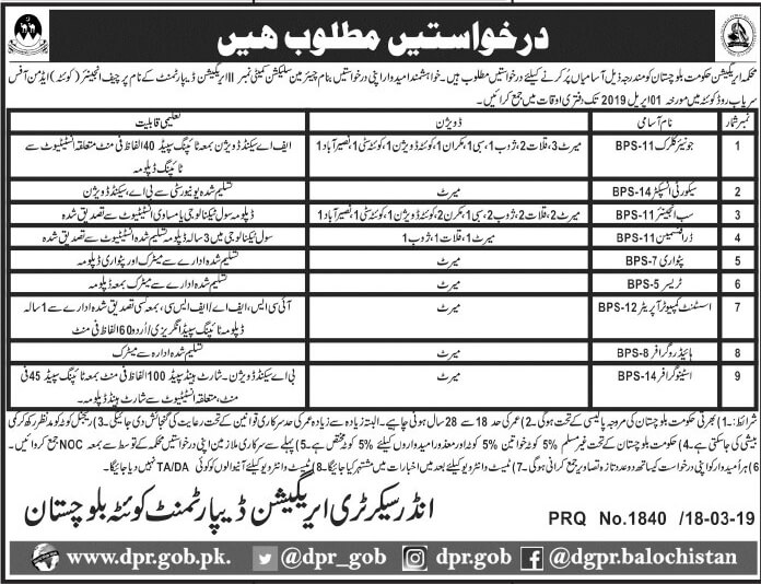 Jobs In Irrigation Department Govt Of The Punjab Mar 2019
