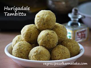 Hurigadale thambittu recipe in Kannada