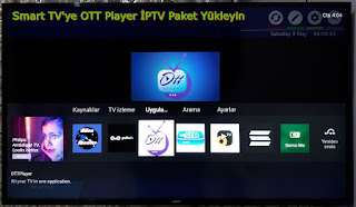 Smart TV'ye OTT Player İPTV Uygulama Yükle