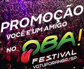 Promoção Itaipava Oba Festival Você E Um Amigo - Viagem Oba Festival Votuporanga