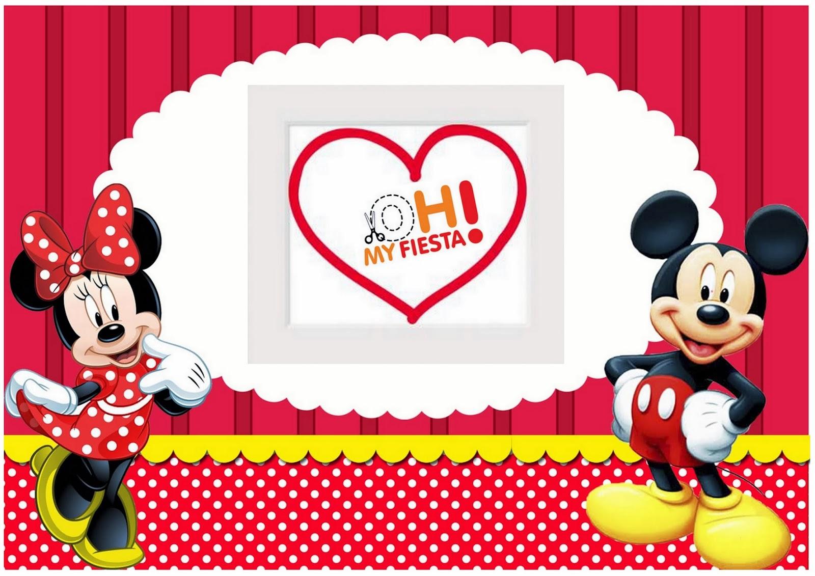 Selección de ideas y material GRATIS para fiestas de Minnie y Mickey.