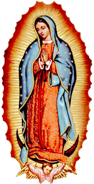 Virgen de Guadalupe con las manos juntas