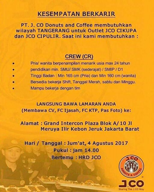 Walk In Interview Roti O Penempatan Cikupa Agustus 2017 Info