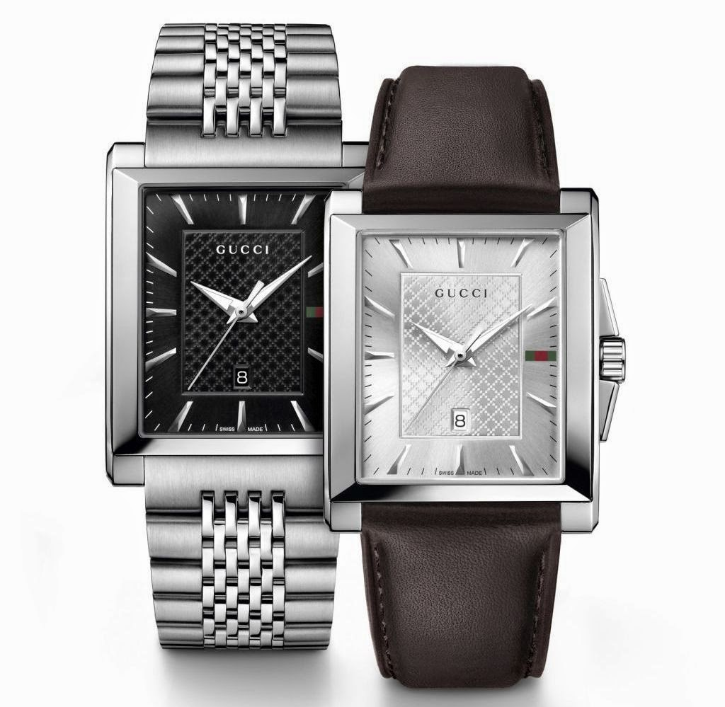 2aa846353ec Each watch shows the iconic Gucci diamante pattern centered on a black