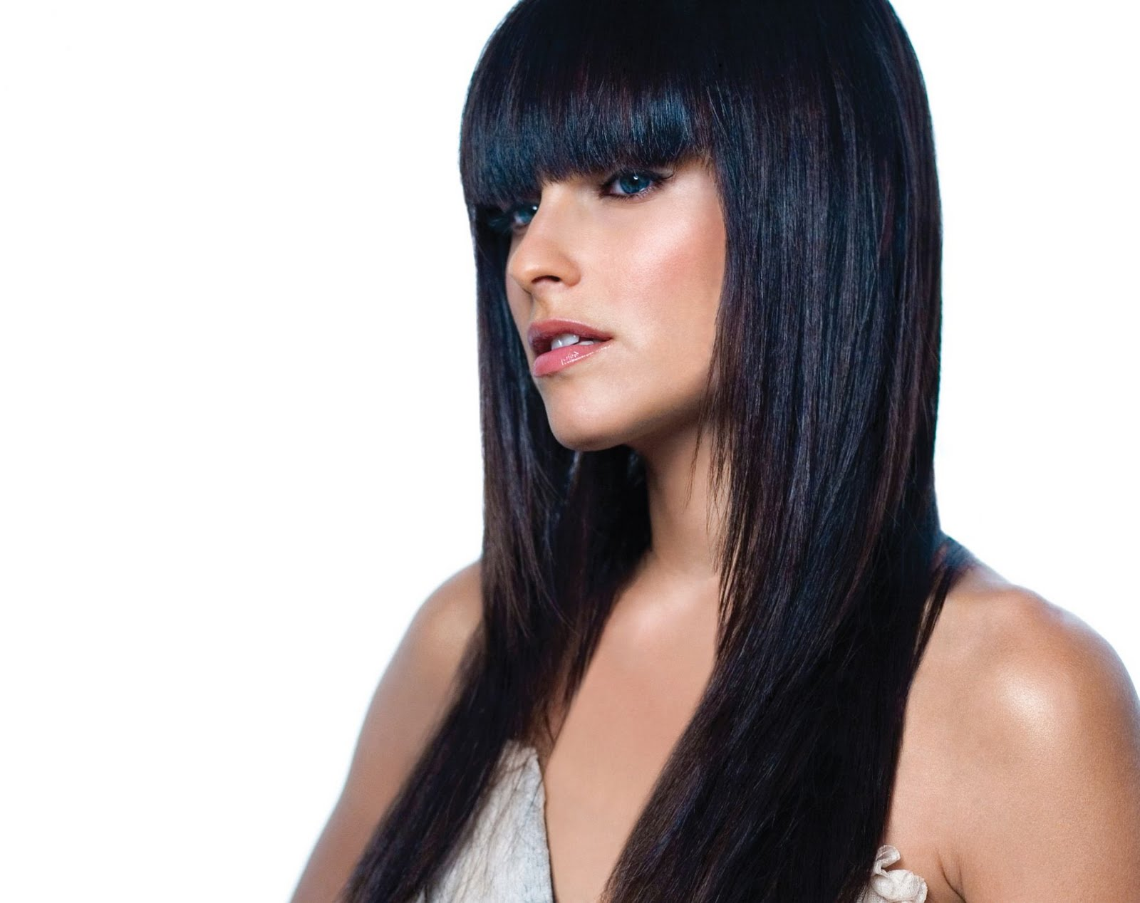 Celebrity Long Black Hairstyles For 2011 Wallpaper