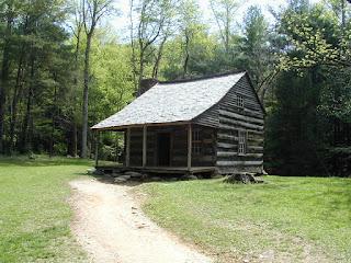 The Carter-Shields Cabin, built sometime after 1910.