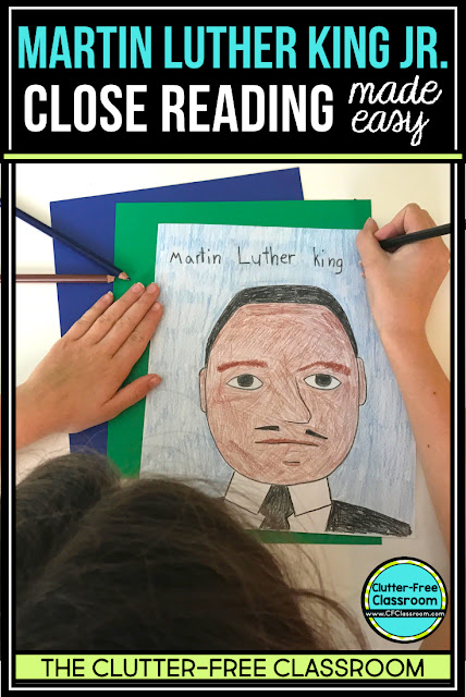 "A Martin Luther King Jr reading passage with reading comprehension activities is a great way for kids to learn about biographies, diversity, and beyond his ""I had a dream"" speech. These crafts, books, bulletin boards, and ideas are perfect for second, third, fourth, and fifth grade students as well as homeschool too."