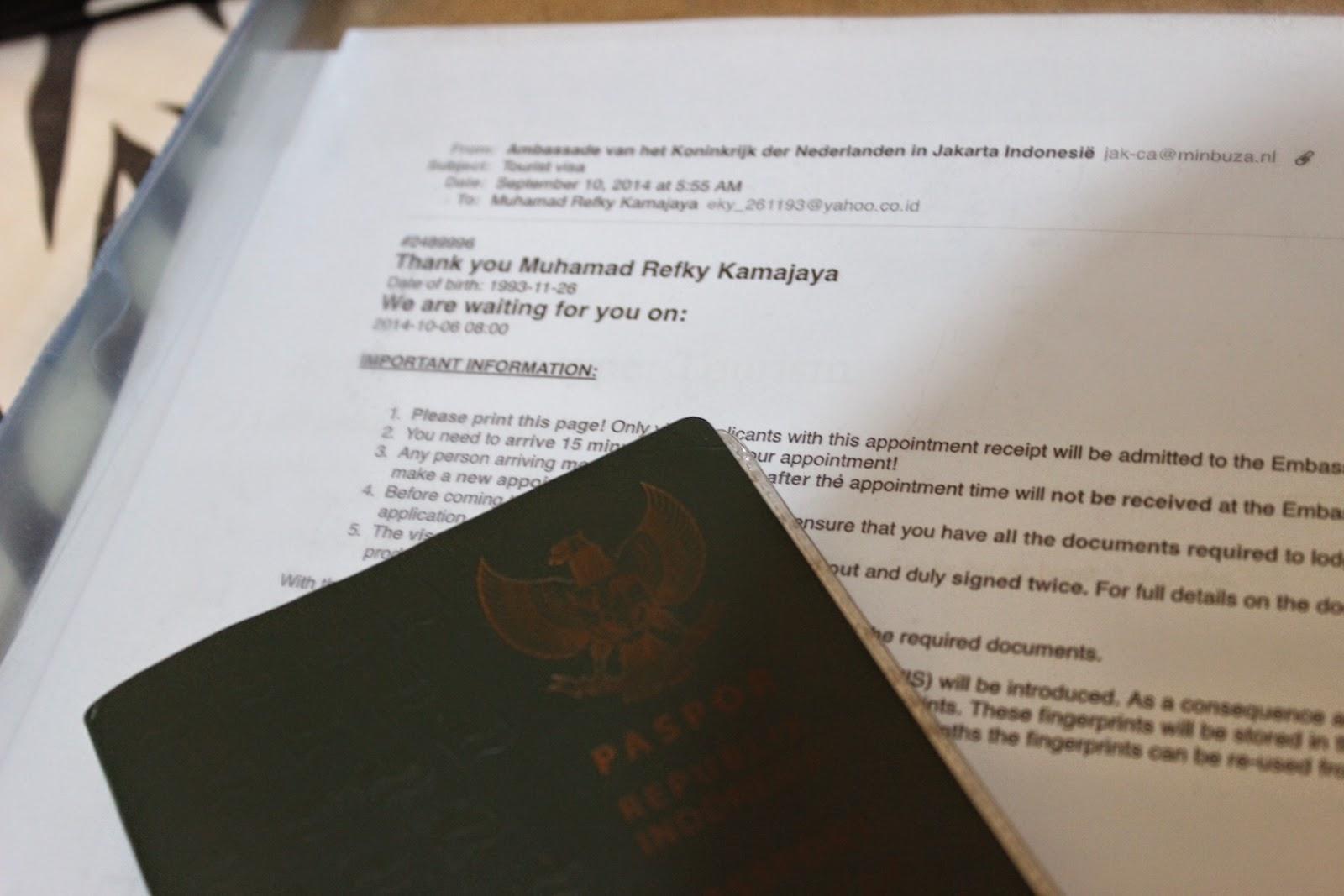 Pengalaman Mengurus Visa Schengen Di Kedutaan Belanda The