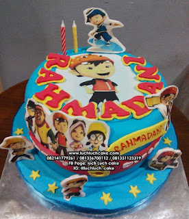 Kue Tart Ulang Tahun Kartun Boboiboy