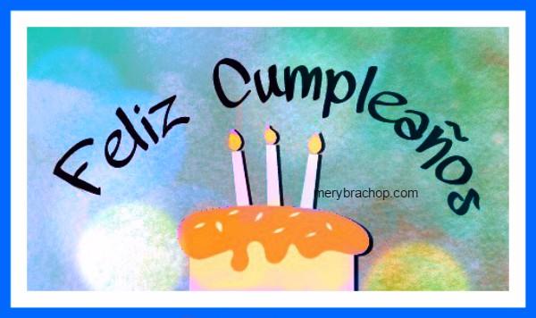 Mensaje de cumpleaños corto para amigo o amiga. Frases en Bonita Tarjeta Cristiana de Cumpleaños con gif para regalar a un cumpleañero por Mery Bracho.