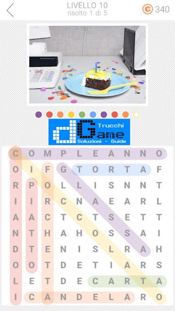 10x10 Crucipuzzle soluzione pacchetto 10 livelli (1-5)