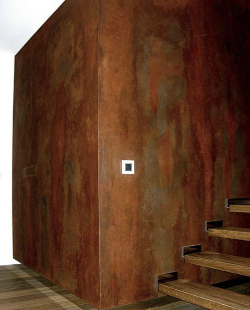 Blog servicat pintura pintura oxido ironic novacolor - Efectos pintura paredes ...
