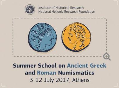 Το Ινστιτούτο Ιστορικών Ερευνών του ΕΙΕ διοργανώνει Θερινό Σχολείο για την Αρχαία Ελληνική και Ρωμαϊκή Νομισματική