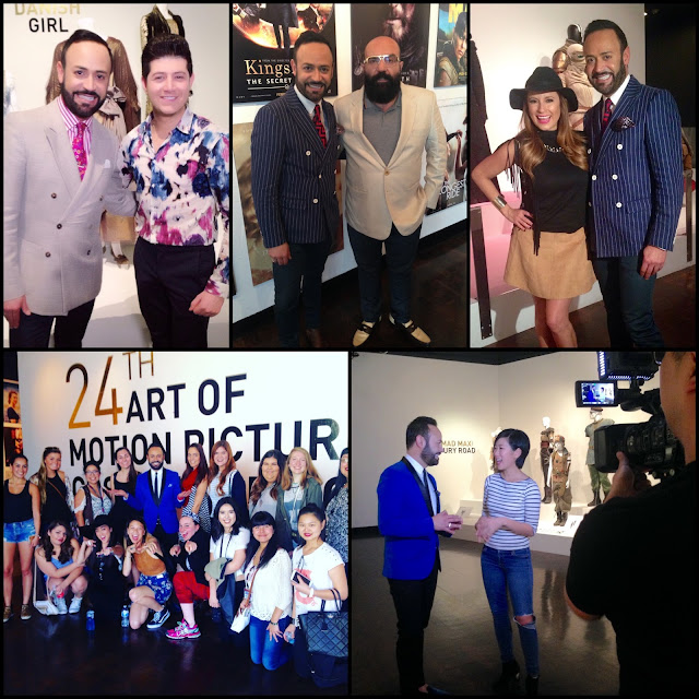 NICK APPEARANCES.....Nick Verreos filming International TV Segments FIDM Museum 24th Art of Motion Picture Costume Design Exhibition BLOG RECAP!