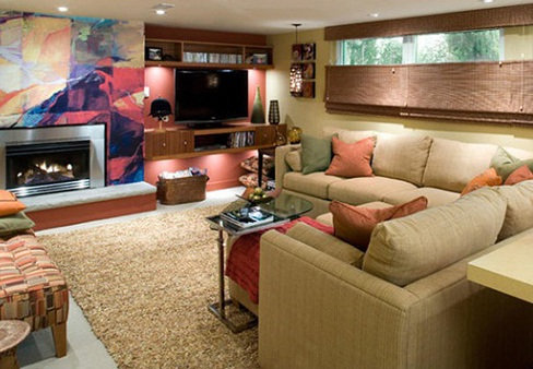 Salas decoradas en s tanos salas con estilo - Sotanos decorados ...