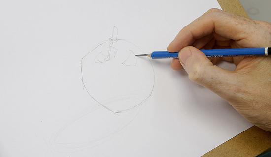 elma nasıl çizilir