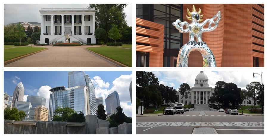 Buildings et maisons antebellum, Sud des Etats-Unis
