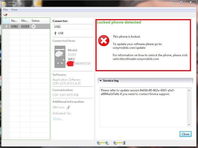 unlock bootloader pada xperia e3