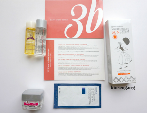 3b box unboxing hada labo apieu etude house secret key ra+gowoori