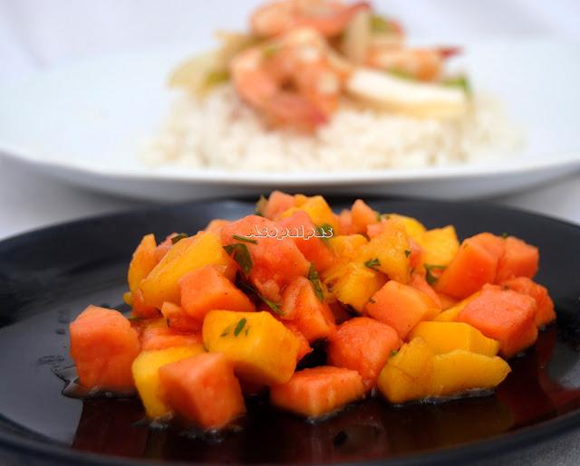 Ensalada de Papaya y Mango