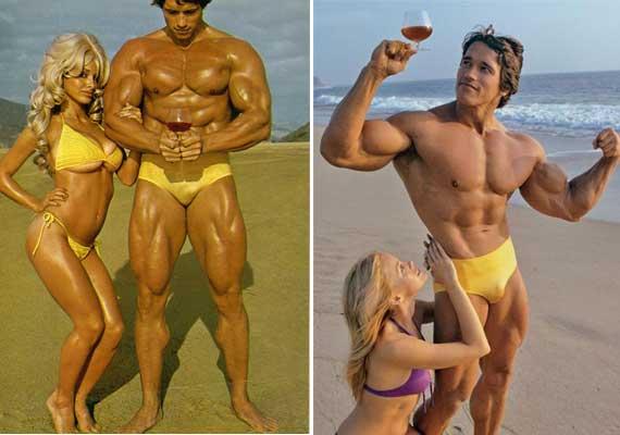 Arnold Schwarzenegger sex harem.   STRENGTHFIGHTER.COM