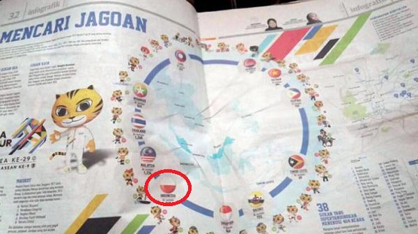 "Wah Kacau! Koran Malaysia Juga ikut ""Lecehkan"" Bendera Indonesia"