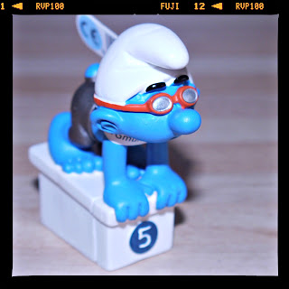 swimming, Olympics, Schleich, Smurfs