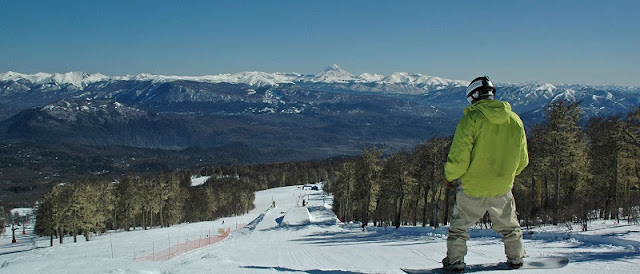 Pista de esqui Cerro Chapelco na Argentina