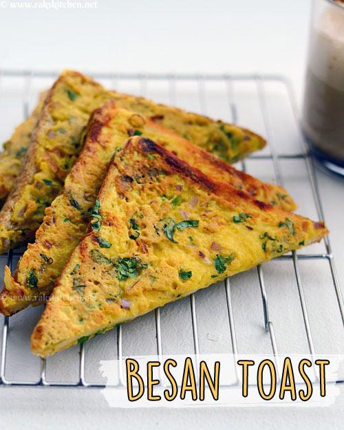 Besan bread toast