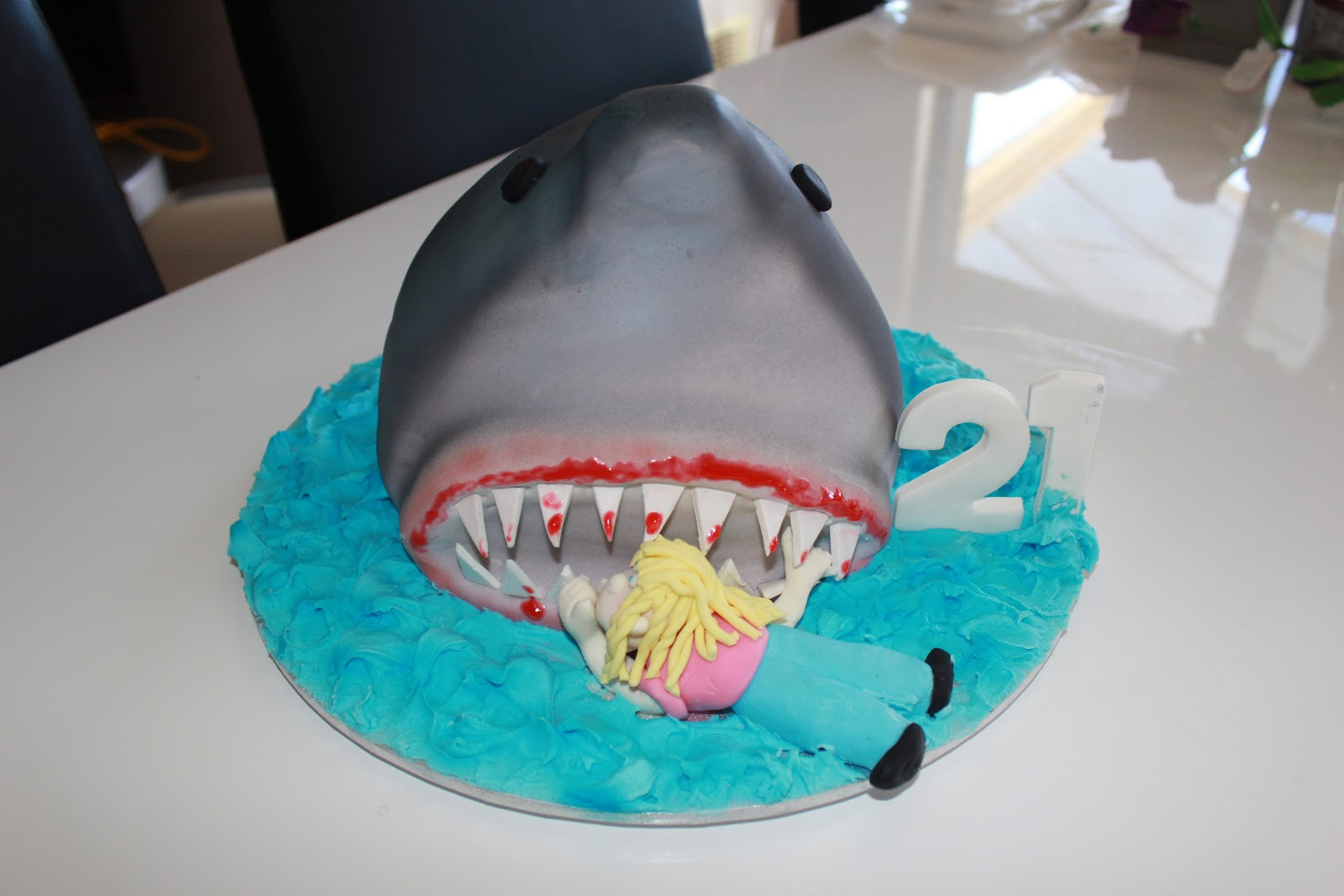 Tanya S Cakes Shark Birthday Cake