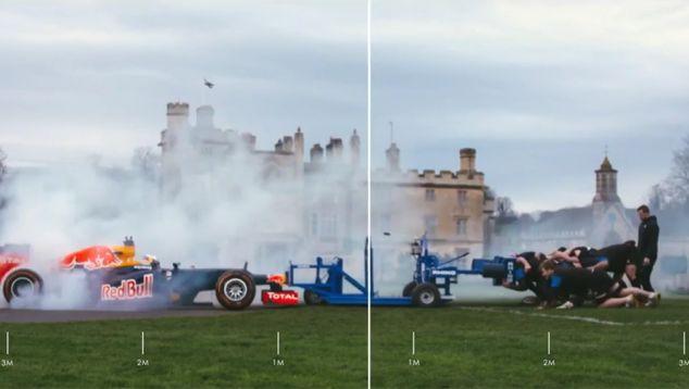 Red Bull se lleva el RB8 de Vettel de 2012 al rugby