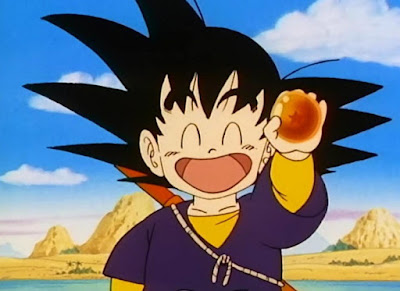 Goku holding a one star Dragon Ball