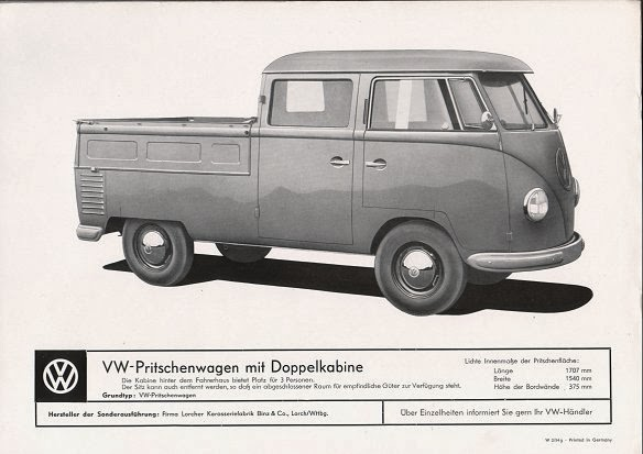 04ff8d5b8e The 1950 ies VW Transporter advertised as pick-up