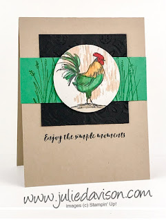 Stampin' Up! Home to Roost Card ~ 2019 Sale-a-Bration ~ www.juliedavison.com
