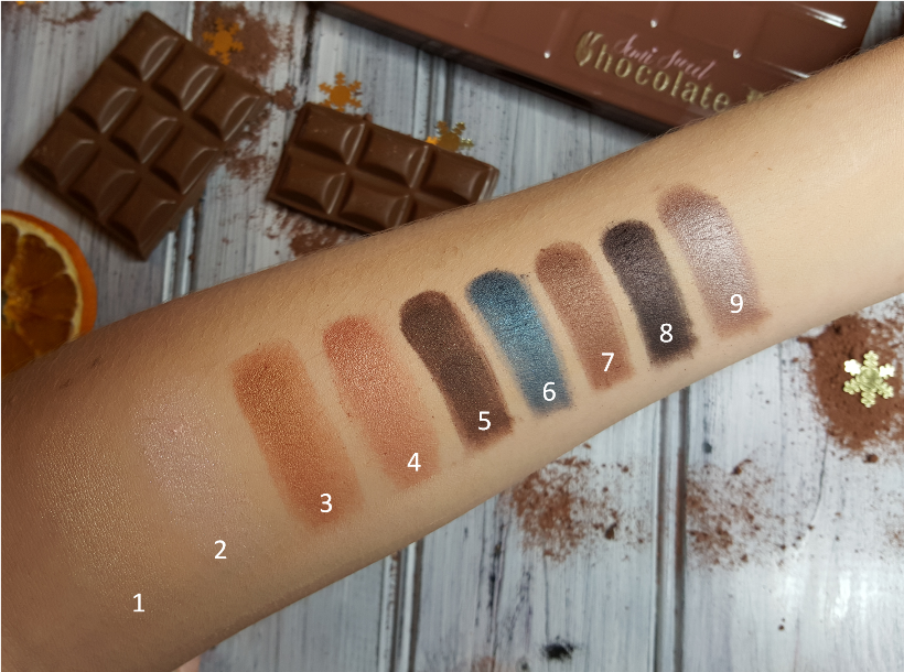 Swatche Too Faced Chocolate Bar Semi Sweet