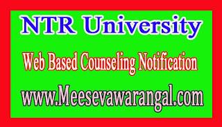 NTR University B.Sc Nursing/BPT/B.ScMLT /M.Sc Nursing/Post Basic 2016 1st Web Based Counseling Notification