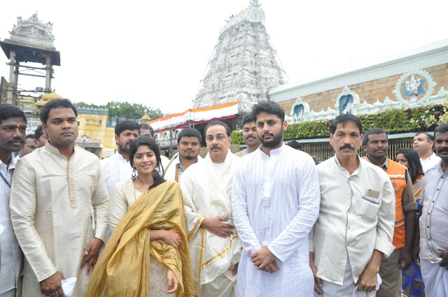 LIE Movie Team Visits Tirumala