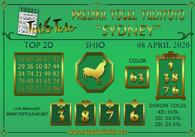 Prediksi Togel SYDNEY TULISTOTO 08 APRIL 2020