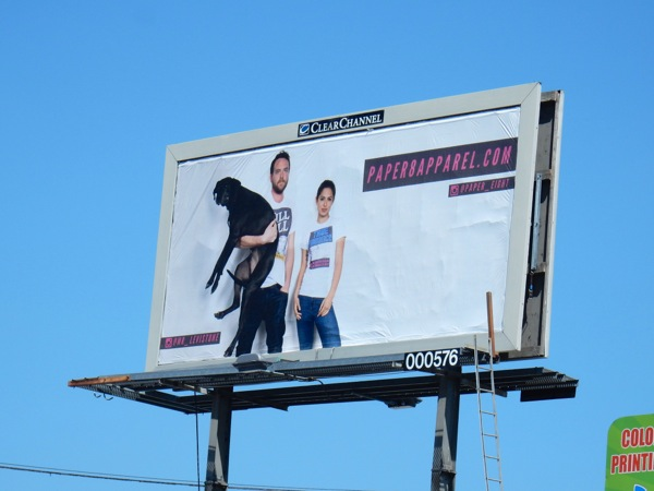 Paper8 apparel dog billboard