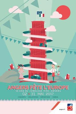 Affiche d'Angers fête l'Europe avec les Vendredis du Caveau