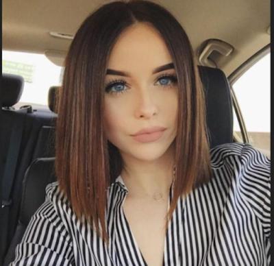 Gaya rambut Absolutely A Line agar terlihat tirus