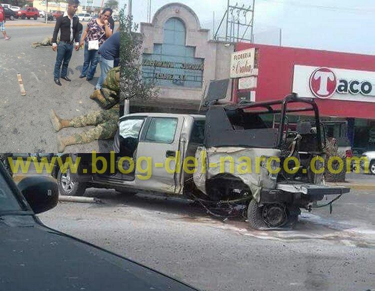 +Fotos: Sicarios firman sentencia de muerte, Atacan a Marinos en #RioBravo Tamaulipas dejan 3 elementos heridos y uno grave