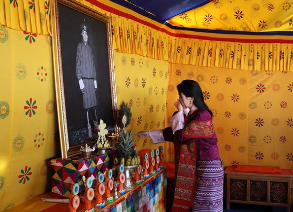 Queen Jetsun Pema of Bhutan attended the first foundation day of the Jigme Dorji Wangchuck National Referral Hospital in Thimphu. Style of Queen Jetsun Pema